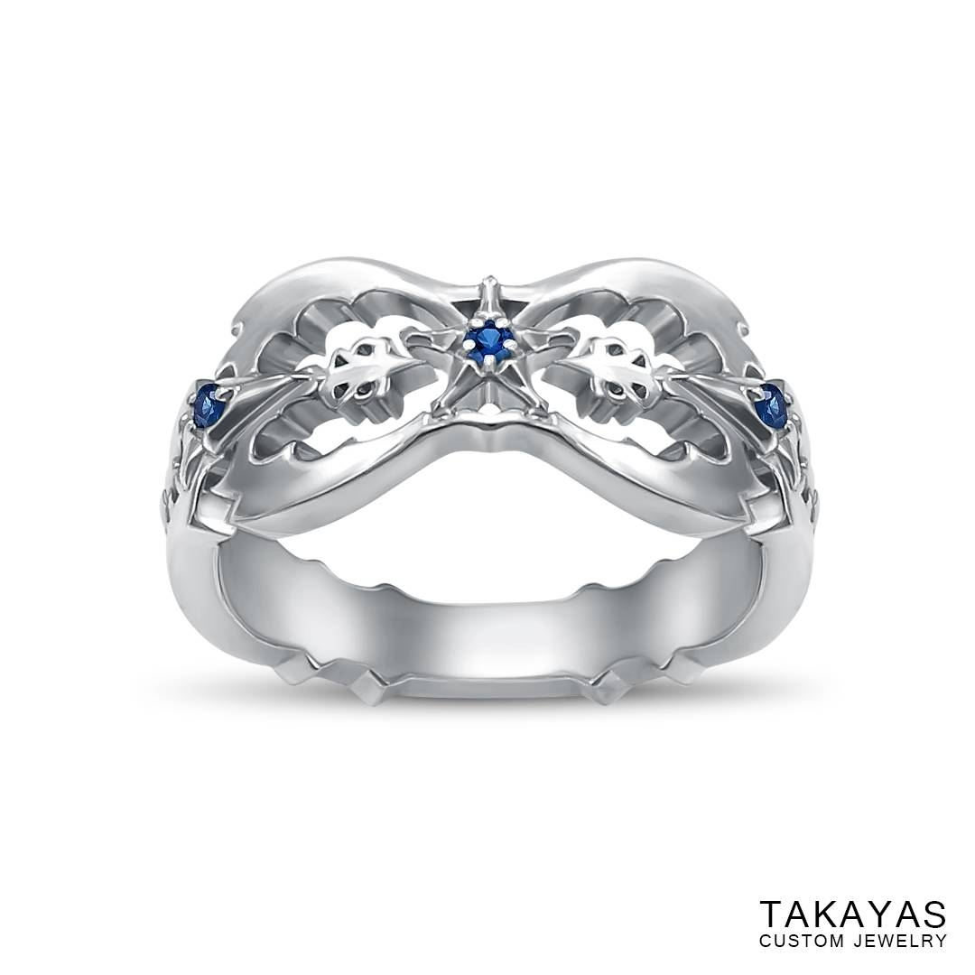 "Destinies Become Intertwined"" Kingdom Hearts Wedding Bands – Part Throughout Intertwined Wedding Bands (View 4 of 15)"