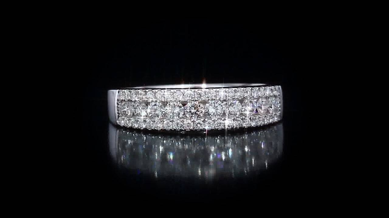 Diamond And 14Kt White Gold Band Costco – Video Gallery With Costco Diamond Wedding Bands (View 7 of 15)