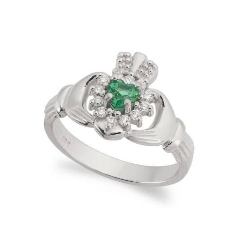 Diamond Claddagh Engagement Rings | 100% Irish | Claddagh Jewellers For Irish Claddagh Engagement Rings (Gallery 6 of 15)
