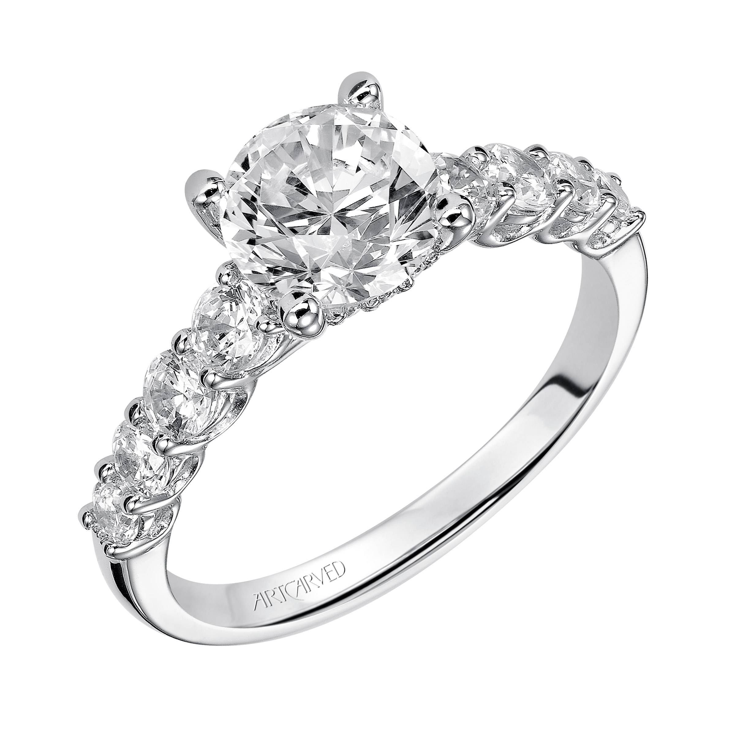 Diamond Engagement Rings Intended For Diamond Band Wedding Rings (View 9 of 15)