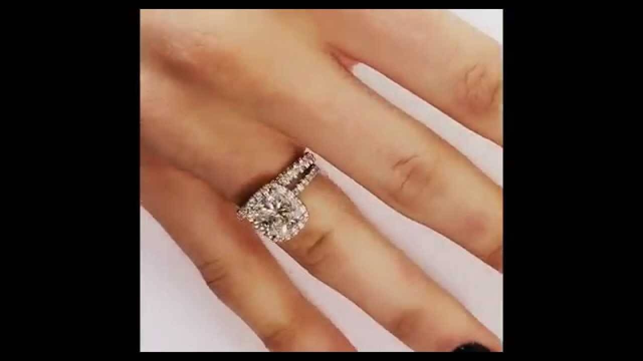 Diamond Eternity Band Matching Engagement Ring – Youtube Regarding Eternity Band Wedding Rings (View 7 of 15)