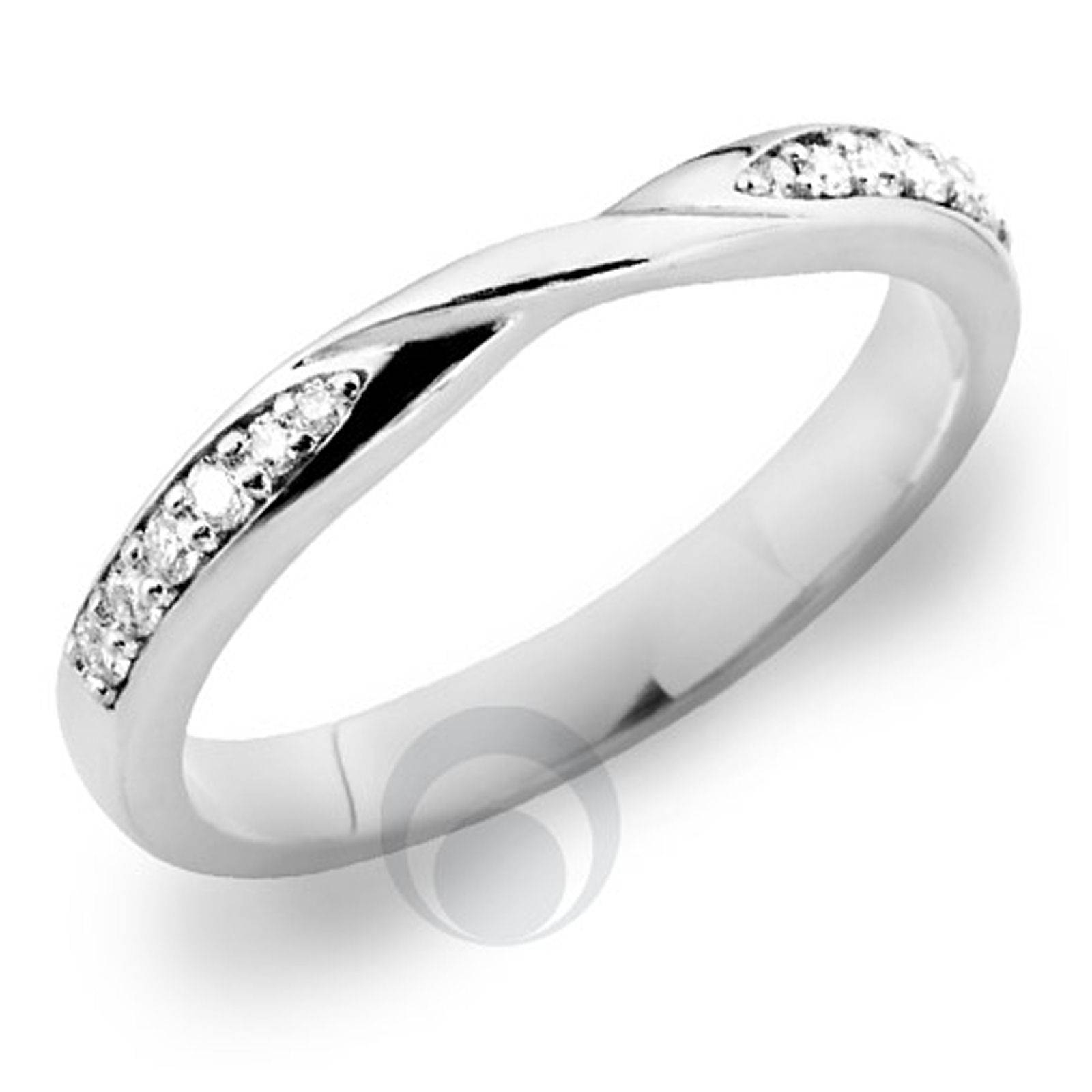 Diamond Platinum Wedding Ring For Solitaire Engagement Ring With Platinum And Diamond Wedding Rings (View 15 of 15)