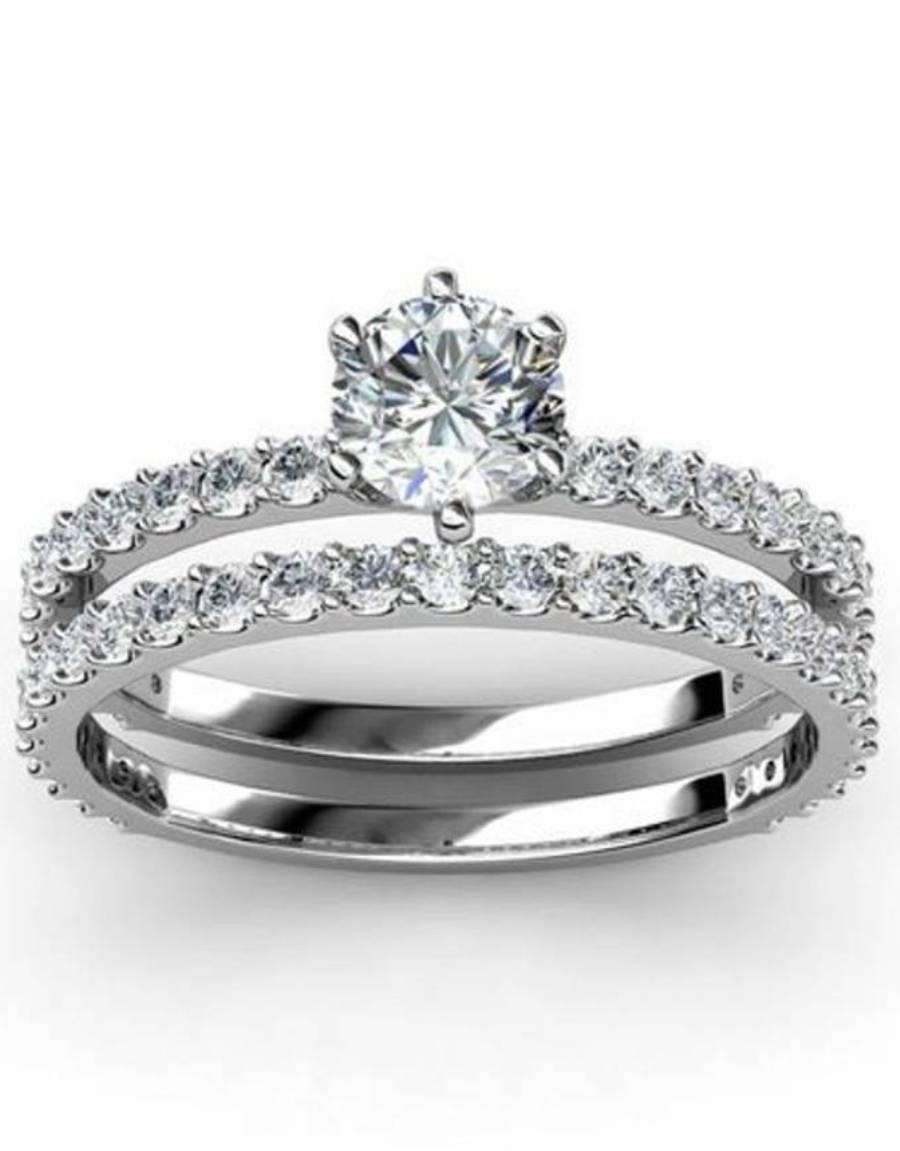 Diamond Platinum Wedding Ring Sets: Stunning Platinum Wedding Ring With Diamond And Platinum Wedding Rings (View 10 of 15)