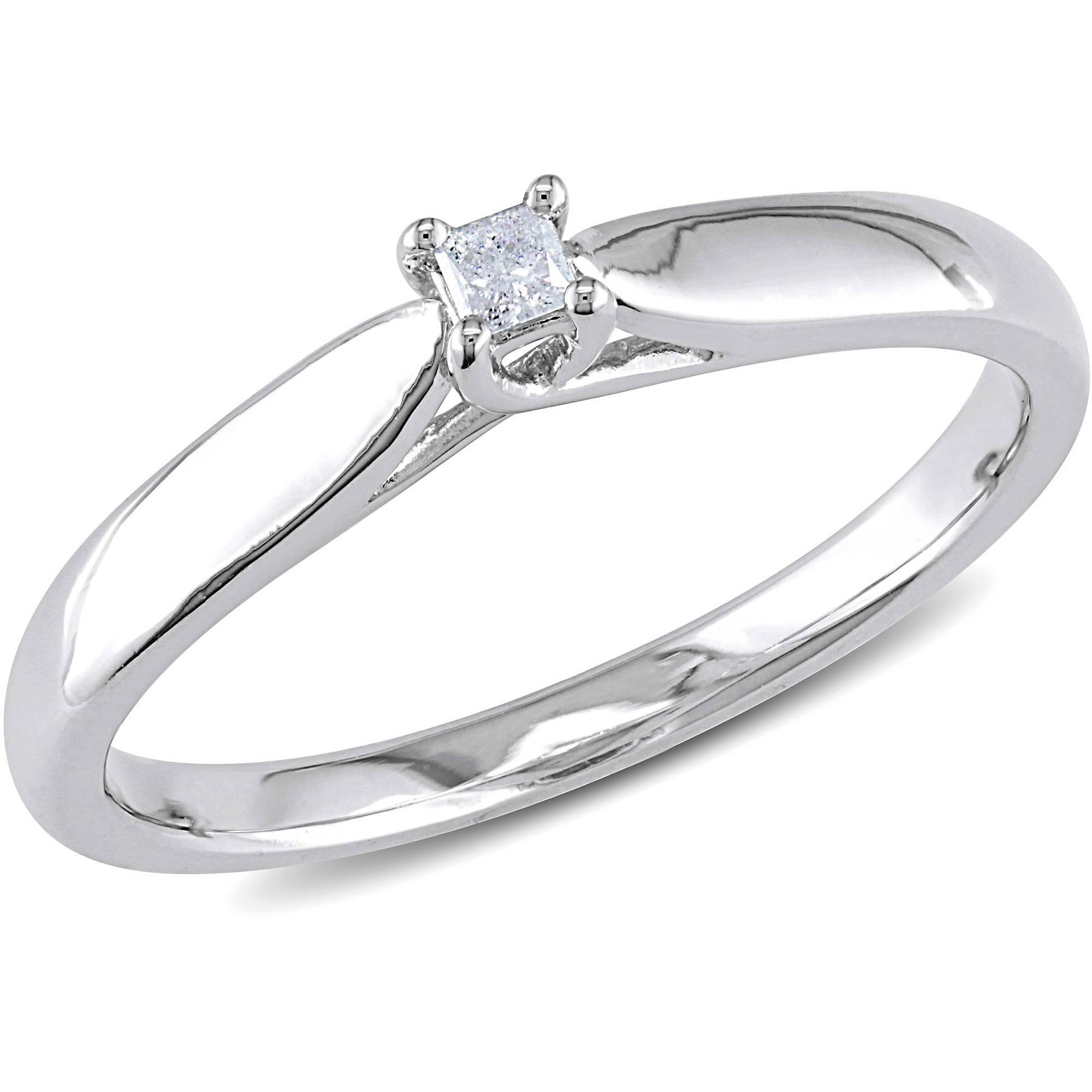 Diamond Promise Rings In Walmart Princess Cut Engagement Rings (View 4 of 15)