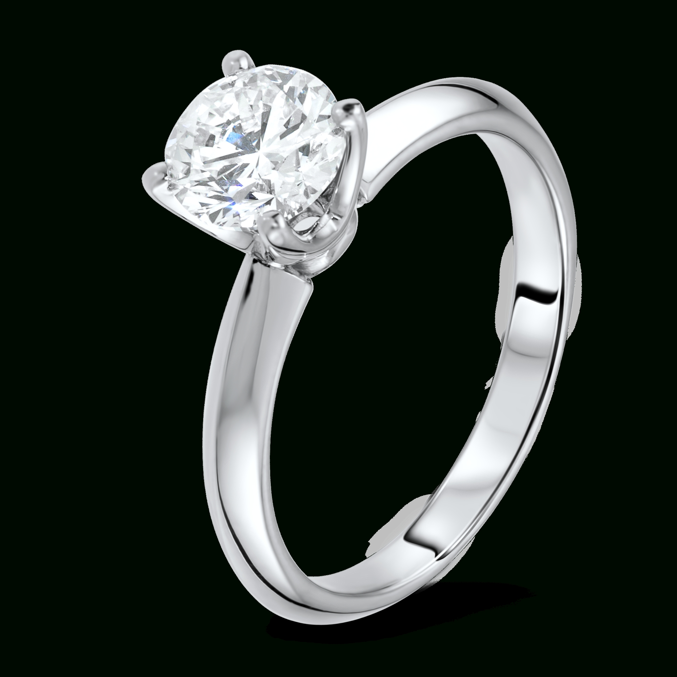 Diamond Ring In 18k White Gold – Diamondland Inside Engagement Rings 18k White Gold (View 11 of 15)