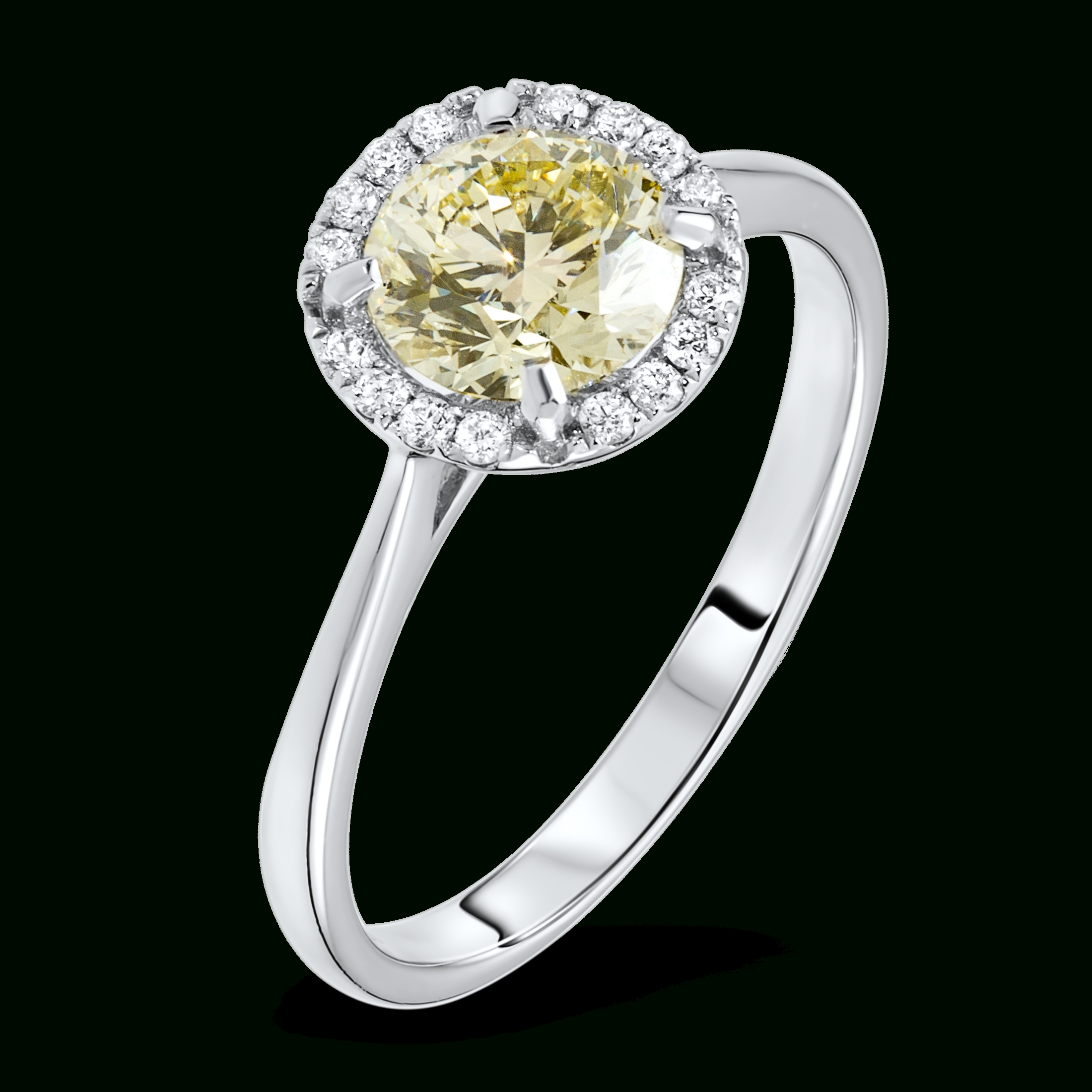 Diamond Ring With Fancy Yellow Diamond – Diamondland Within Extravagant Engagement Rings (Gallery 11 of 15)