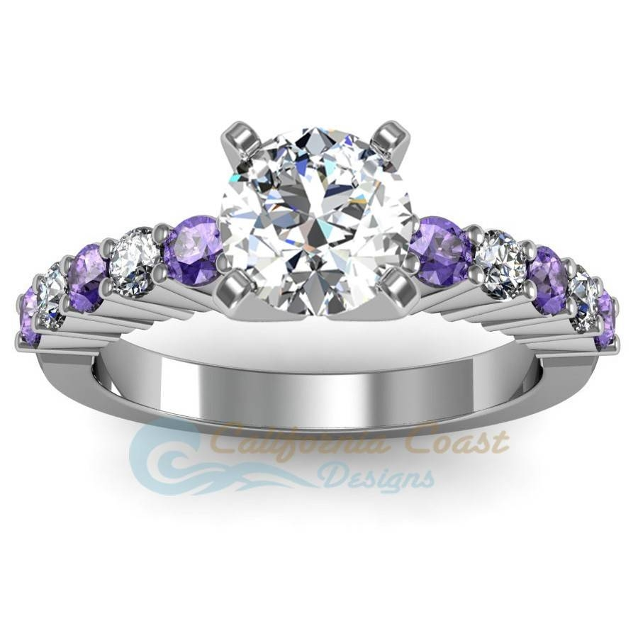 Diamond & Tanzanite Engagement Ring Intended For Diamond Tanzanite Engagement Rings (Gallery 2 of 15)