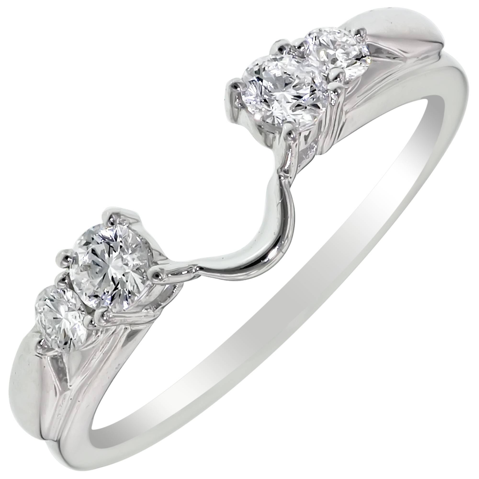 Diamond Wedding Ring Wrap In 14Kt White Gold (1/3Ct Tw) Pertaining To Wrap Rings Wedding Bands (View 4 of 15)