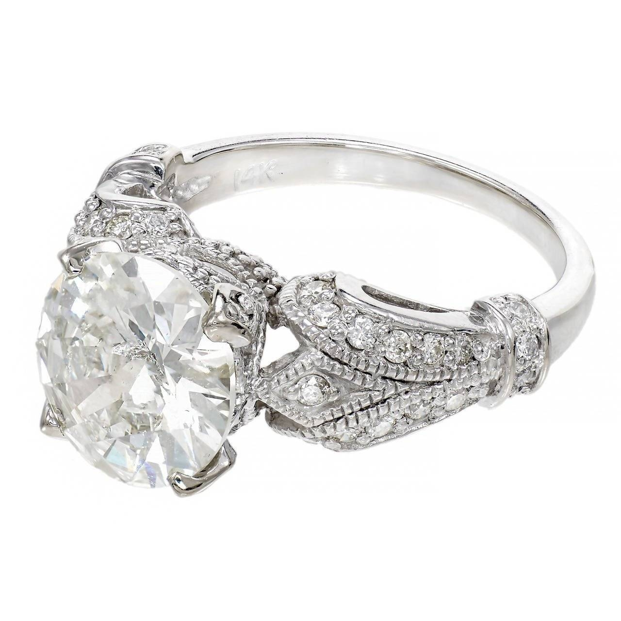Diamond White Gold Engagement Ring At 1stdibs In White Gold Engagement Rings (View 2 of 15)