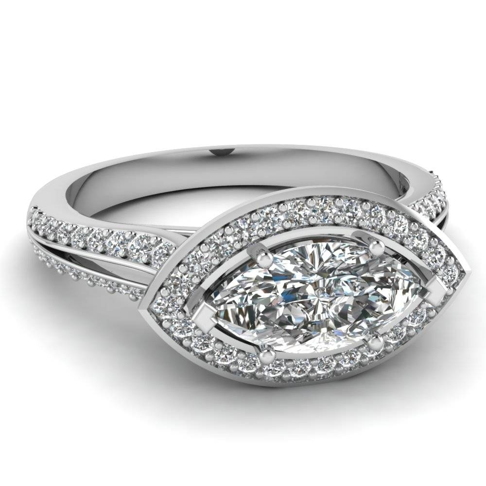 Discounted Marquise Shaped Halo Engagement Rings |fascinating Diamonds Regarding Marquise Cut Diamond Wedding Rings Sets (View 10 of 15)