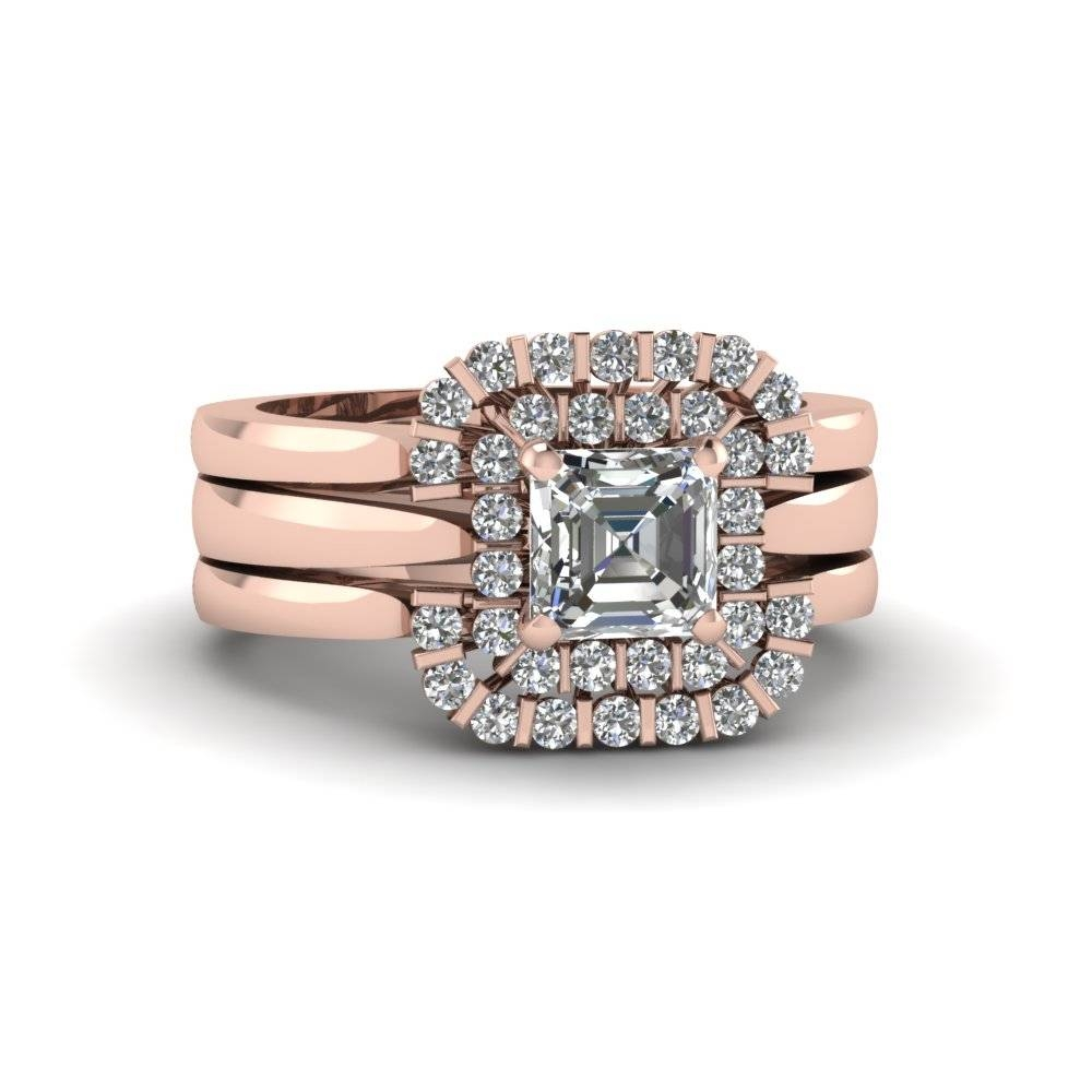 Discover Our Diamond Trio Wedding Ring Sets | Fascinating Diamonds For Engagement Trio Sets (View 6 of 15)