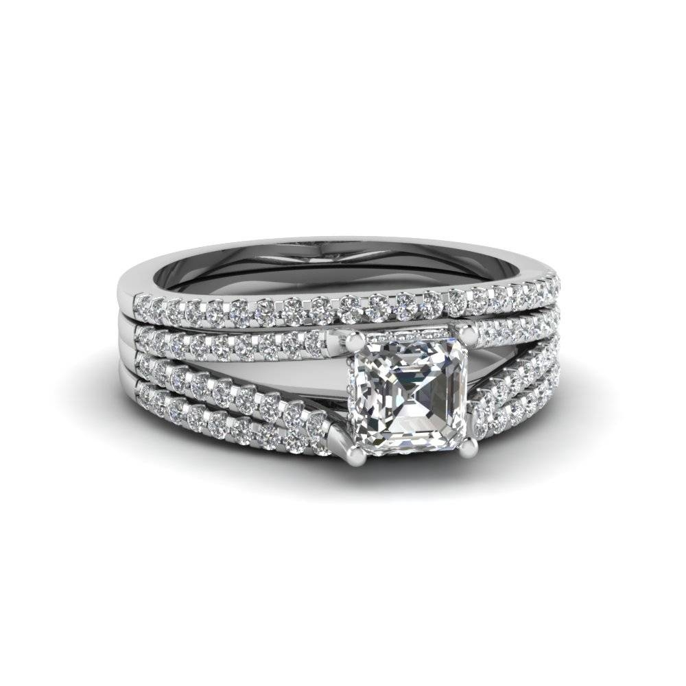 Discover Our Diamond Trio Wedding Ring Sets | Fascinating Diamonds Regarding Engagement Trio Sets (View 7 of 15)