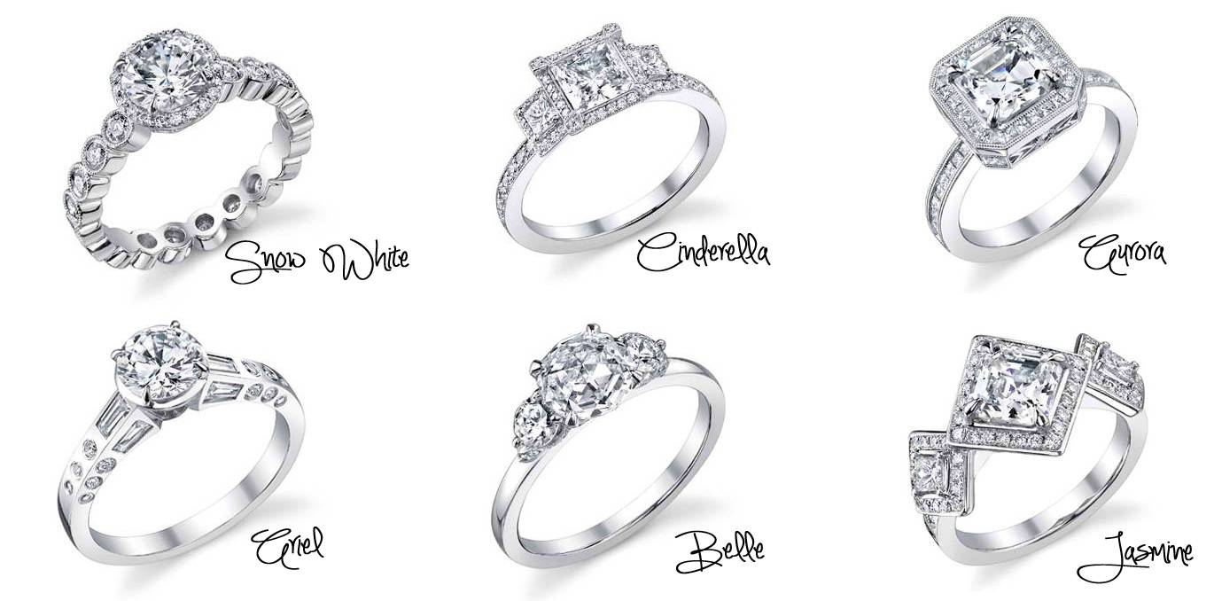 Disney Princess Disney Princess Inspired Engagement Rings Fair Pertaining To Disney Engagement Rings And Wedding Bands (View 4 of 15)