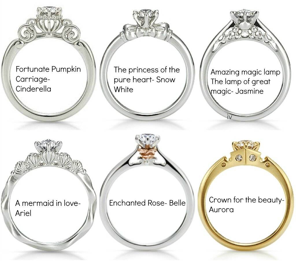 Disney Princess Engagement Rings (By K. Uno) : Disney With Disney Themed Engagement Rings (Gallery 1 of 15)
