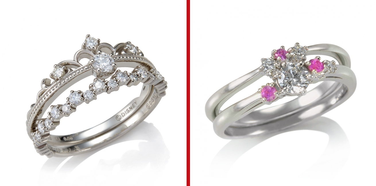 Disney Unveils Line Of Paired Engagement/wedding Rings Just In With Regard To Japan Wedding Rings (View 4 of 15)