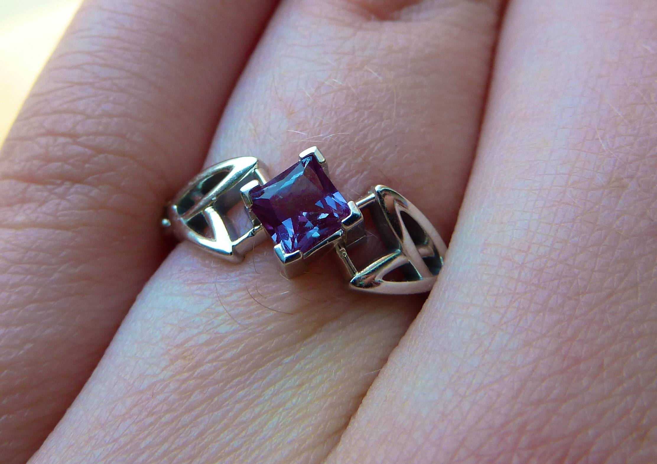 Does Anyone Else Have Engagement And Wedding Rings That Don't Go Within Alexandrite Wedding Bands (View 8 of 15)