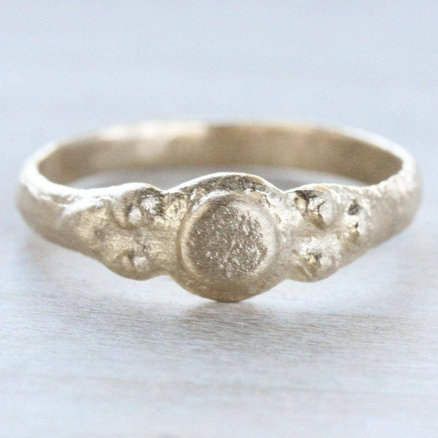 Dot Ancient Texture Ring – Alternative Engagement Ring – Gold Or For Ancient Wedding Rings (View 7 of 15)