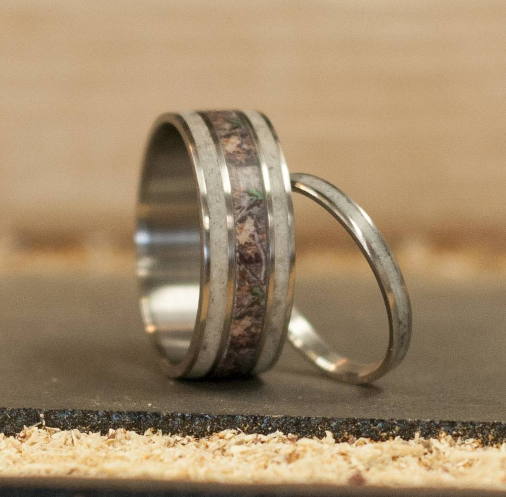 Download Deer Antler Wedding Rings | Wedding Corners With Regard To Horn Inlay Titanium Wedding Bands (View 4 of 15)
