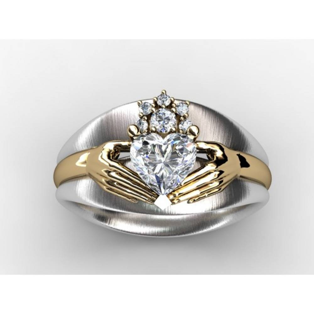 Download Diamond Claddagh Wedding Ring Sets | Wedding Corners Intended For Diamond Claddagh Engagement & Wedding Ring Sets (View 2 of 15)