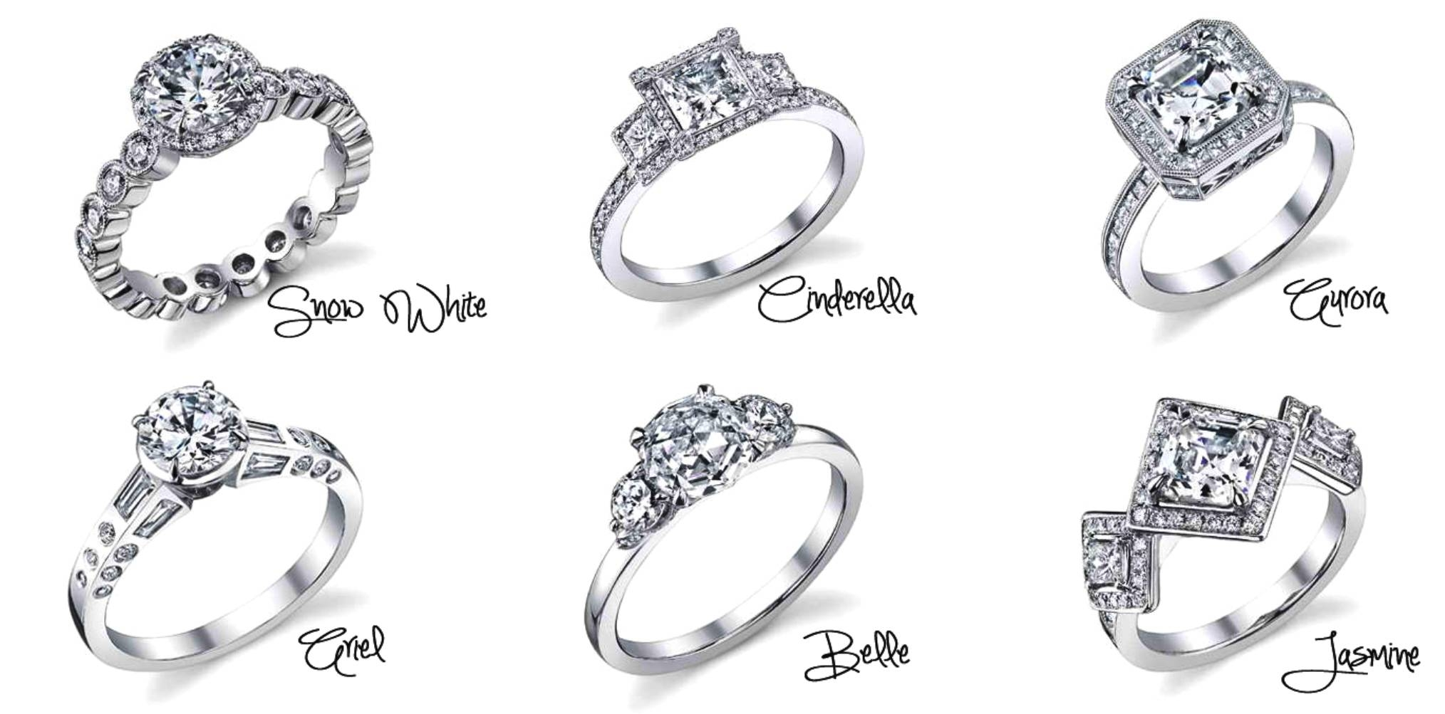 Disney Princess Themed Engagement Rings