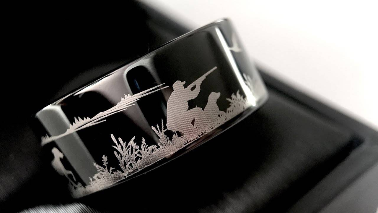 Duck Hunting Ring, Fisherman Ring, Duck Band Wedding Ring, Black Within Duck Hunting Wedding Bands (View 3 of 15)