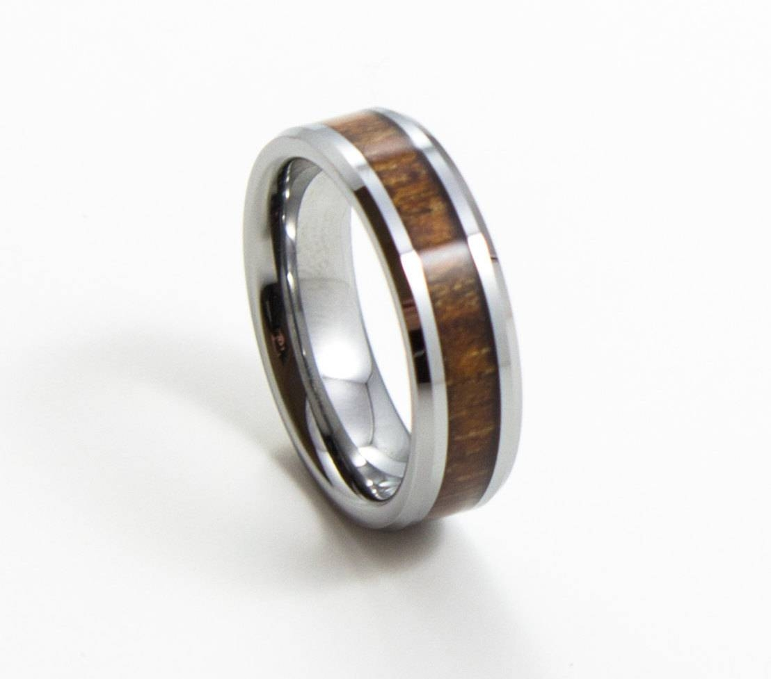 Elegant Koa Wood Thin Men's Wedding Band 6Mm Men's Inside Men's Thin Wedding Bands (View 4 of 15)
