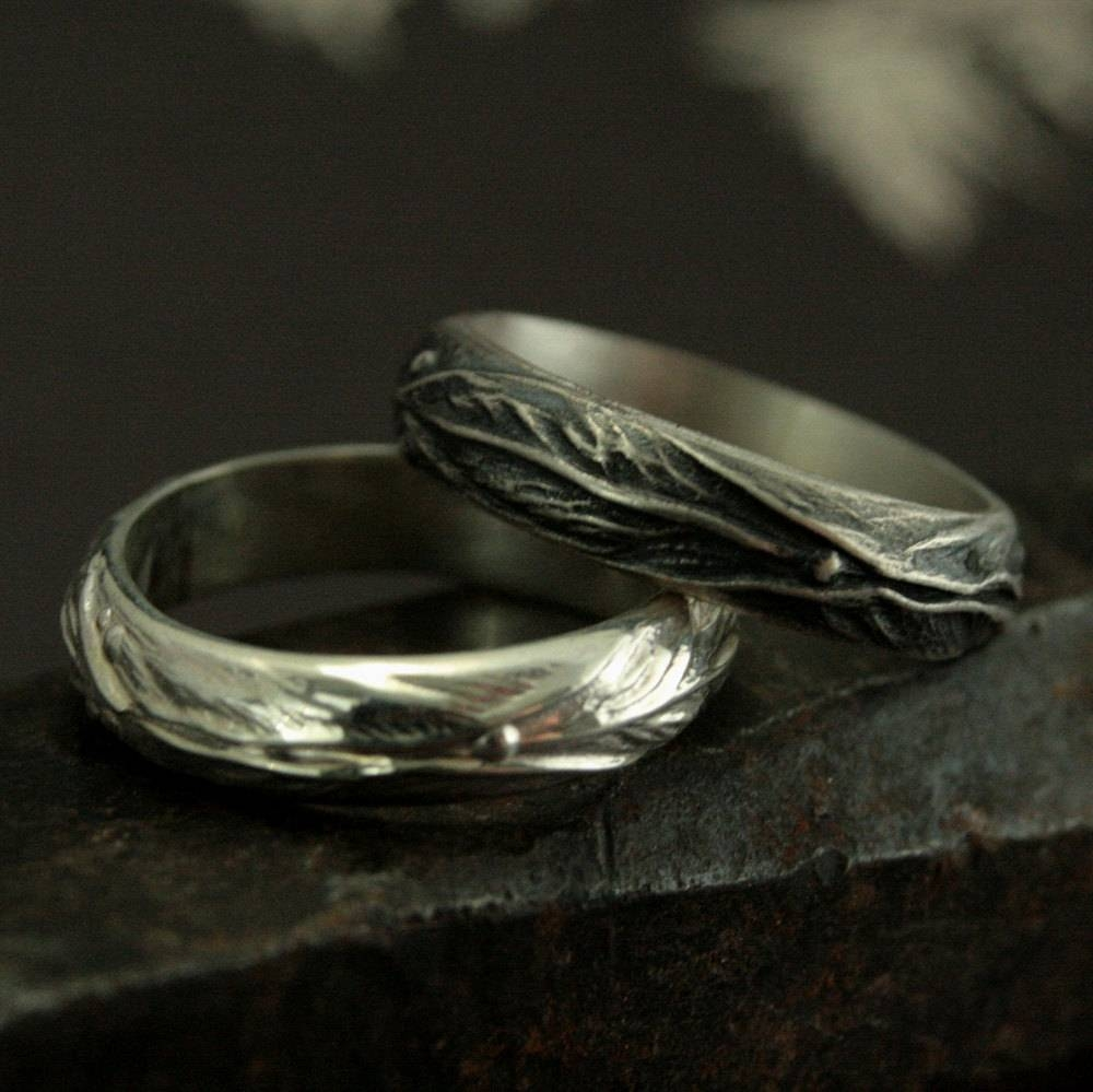 Elven Ring Sterling Silver Leaf Design Ring Fantasy Inside Elvish Style Engagement Rings (View 6 of 15)