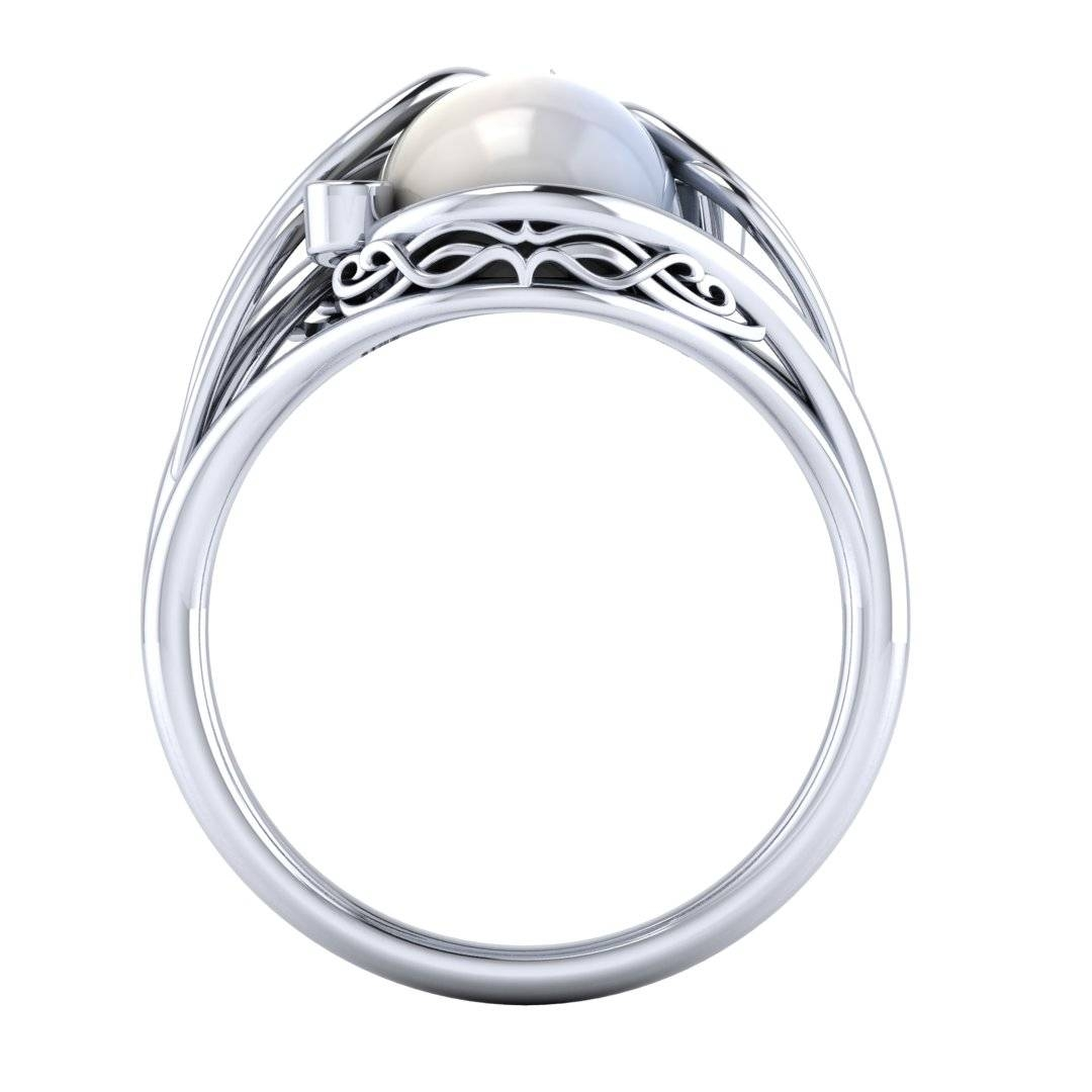 Elvish Moonstone Engagement Ring — Takayas Custom Jewelry Throughout Elvish Engagement Rings (Gallery 6 of 15)