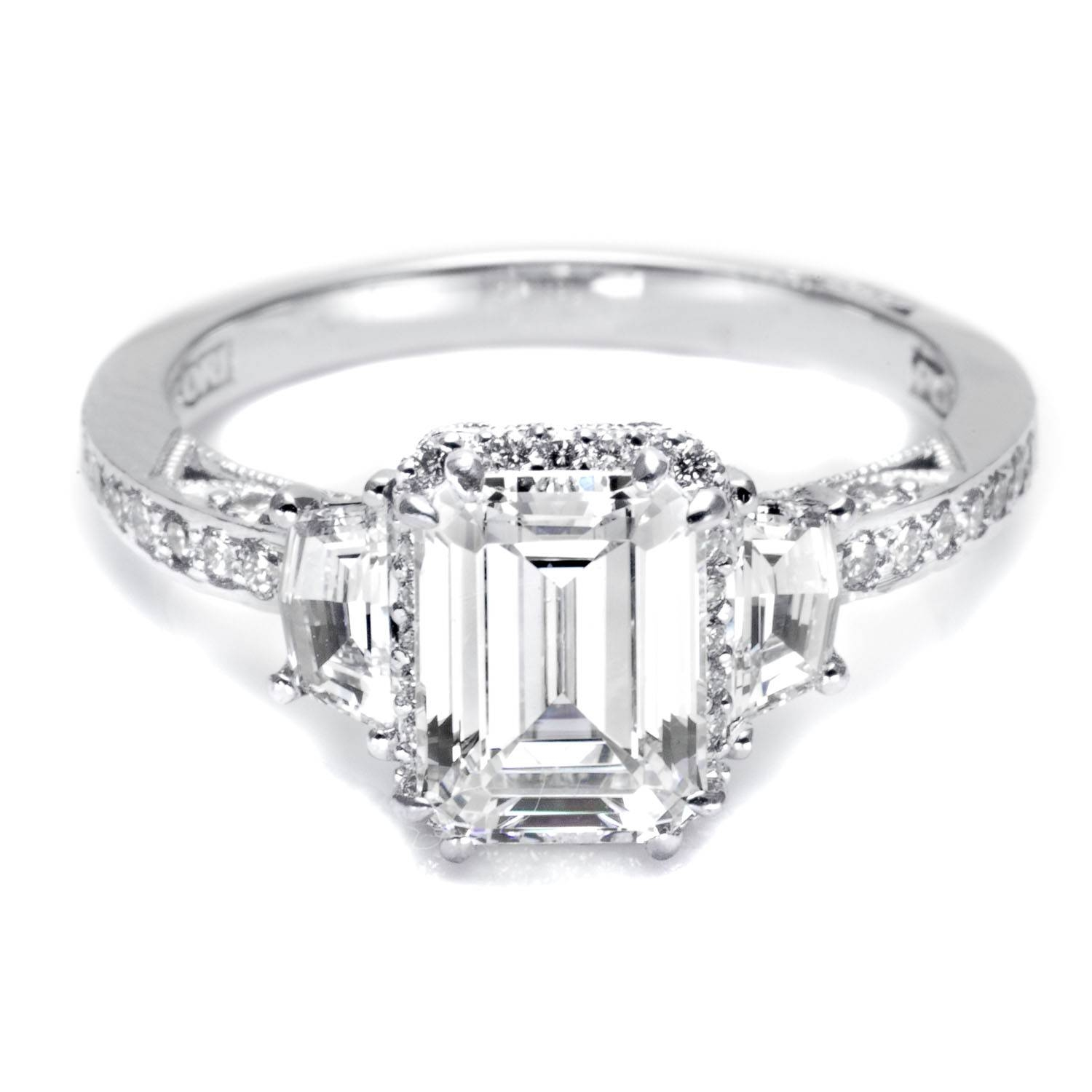 Emerald Cut Diamond Engagement Rings For Loved Once | Wedding In Emerald And Diamond Wedding Rings (View 7 of 15)