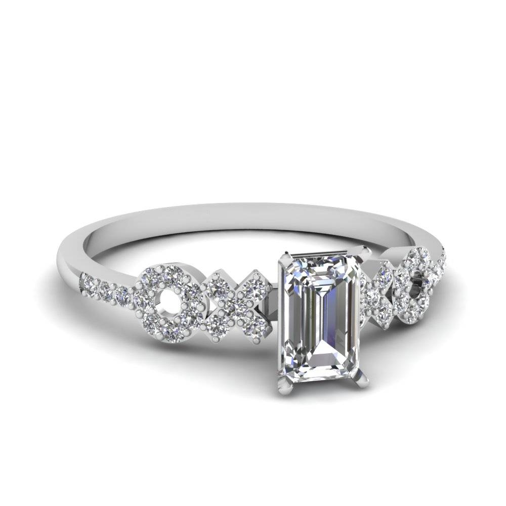 Emerald Cut Half Carat Diamond Engagement Ring Setting In 950 Regarding Platinum Wedding Rings Settings (View 13 of 15)