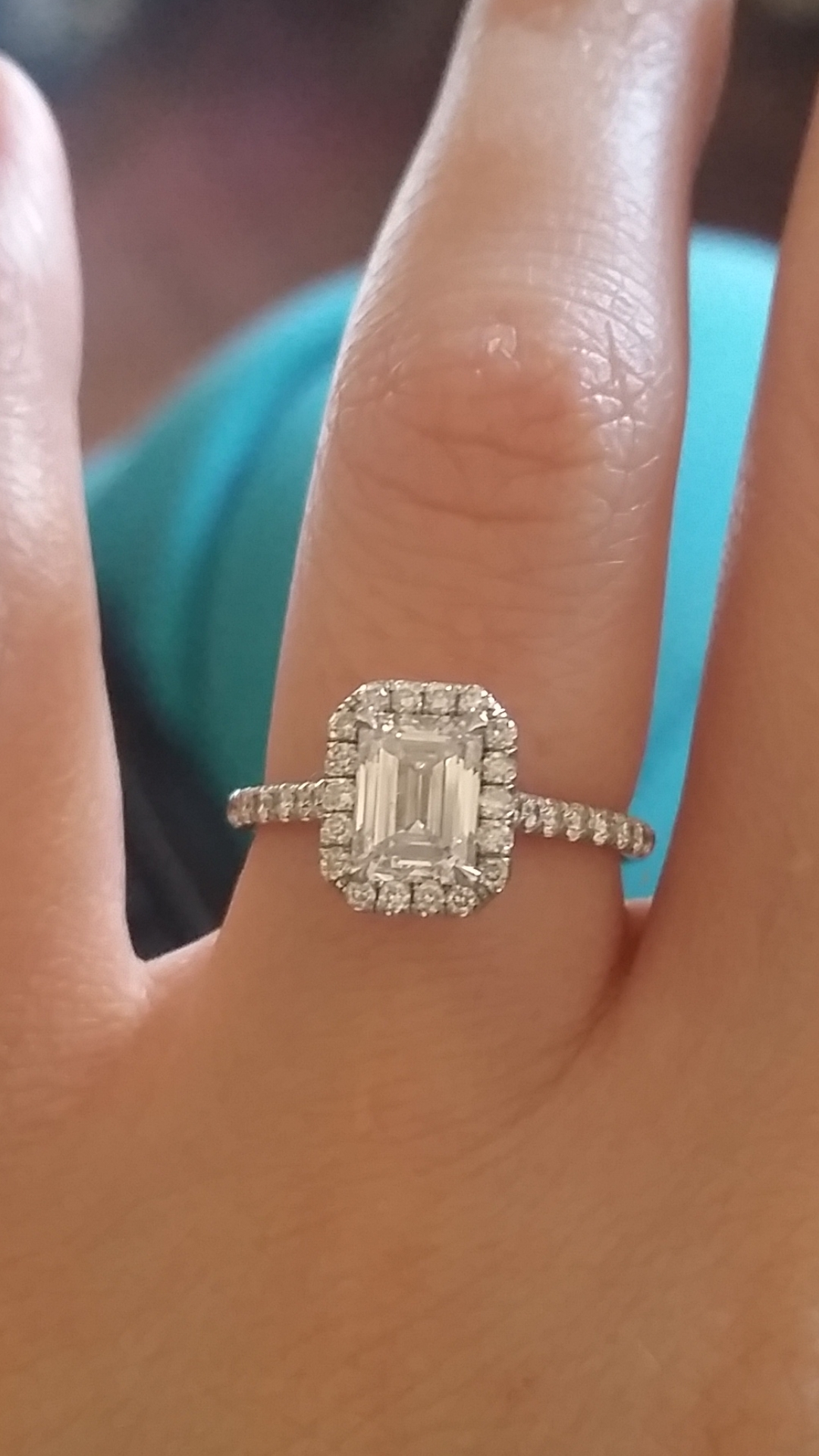 Emerald Cut Halo Setting (View 6 of 15)