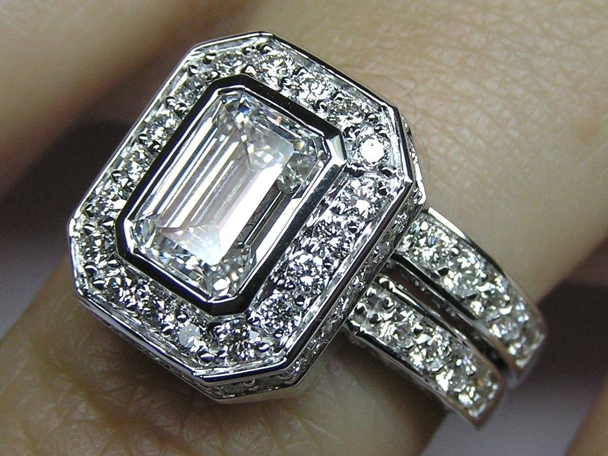 Emerald Cut Wedding Bands — Memorable Wedding Planning For Traditional Scottish Engagement Rings (Gallery 9 of 15)