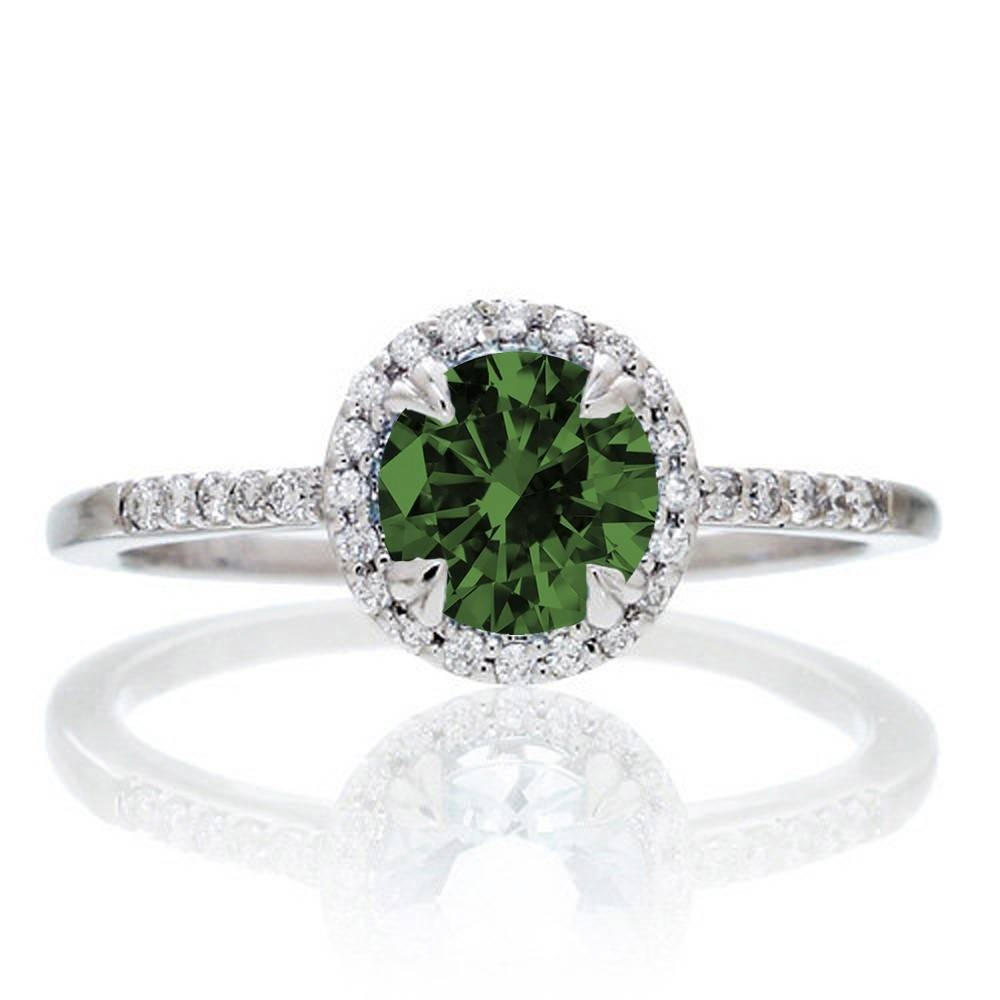 Emerald | Emerald Rings | Emerald Engagement Rings | Emerald Within Emerald Engagement Rings White Gold (Gallery 10 of 15)