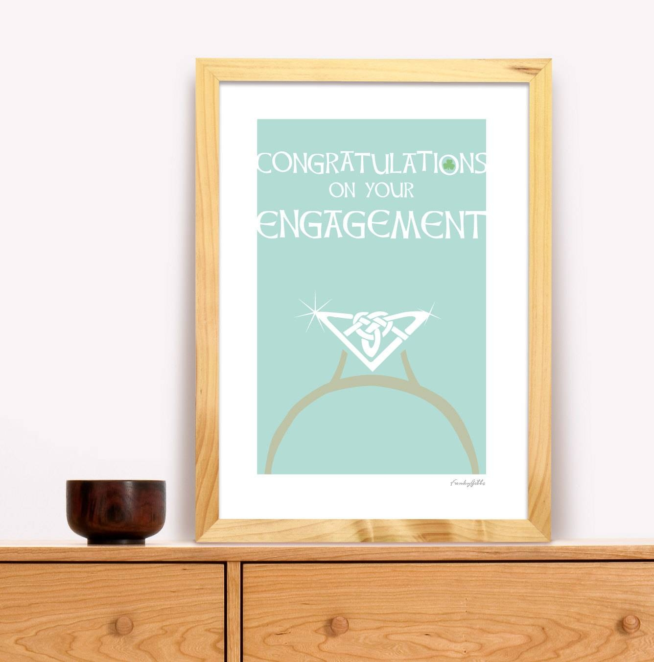 Engagement Gift Irish Trad Poster In Irish Engagement Gifts (Gallery 1 of 15)