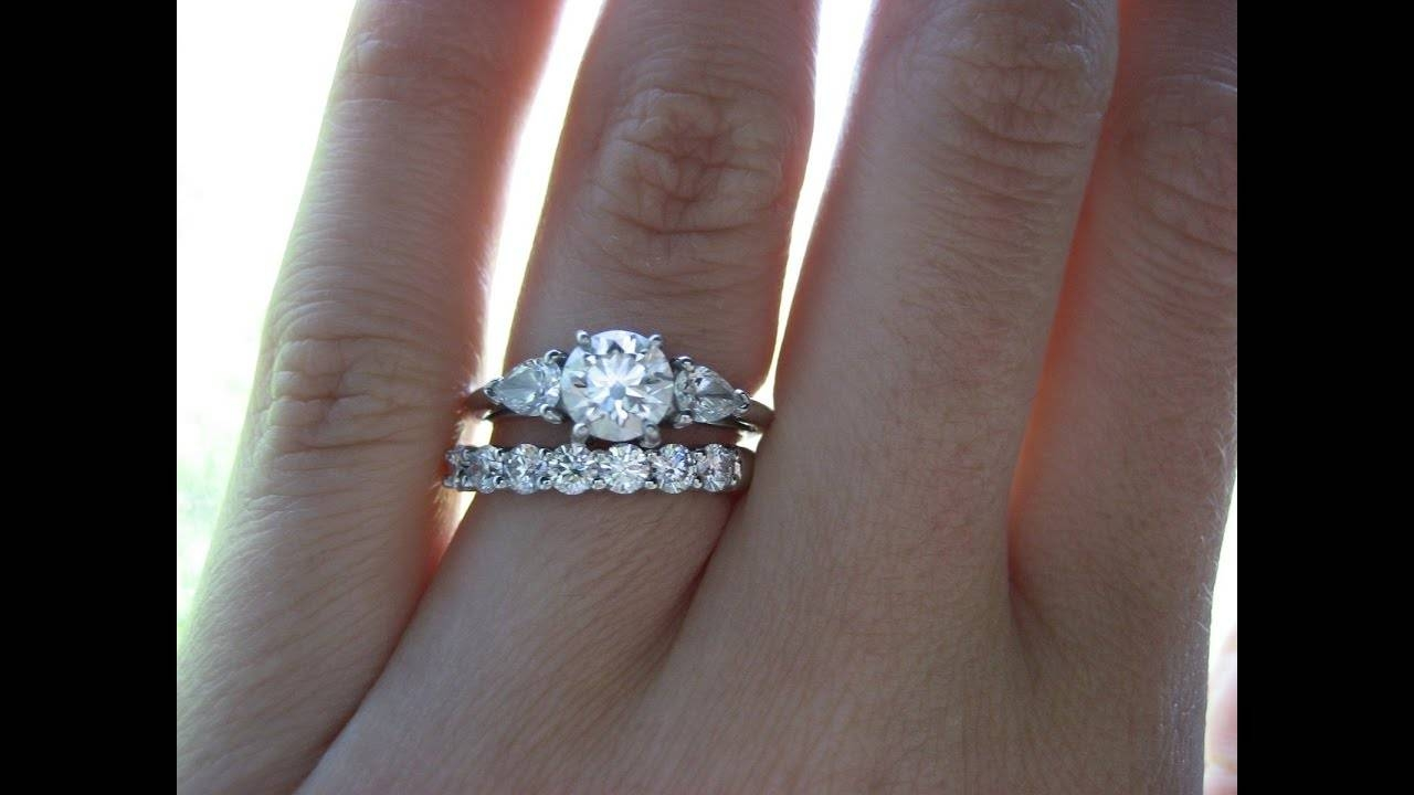 Engagement Ring And Wedding Band Finger Ideas – Youtube Within Wedding Bands And Engagement Rings (View 6 of 15)
