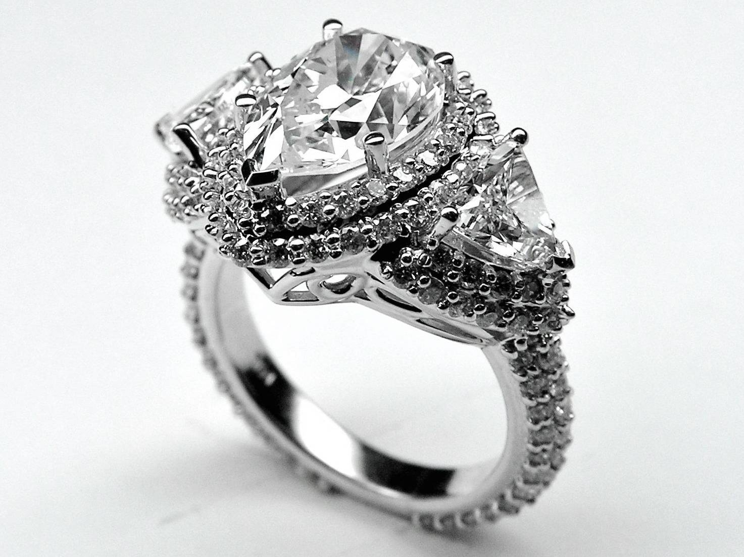 Engagement Ring  Pear Shape Diamond Vintage Engagement Ring Throughout Pear Shaped Settings Engagement Rings (Gallery 5 of 15)