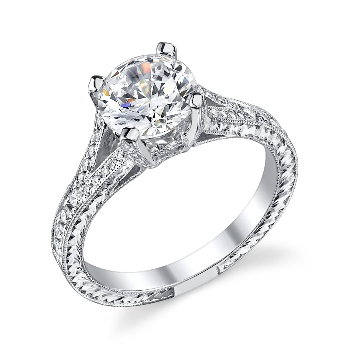 Engagement Ring Settings, Miscellaneous Design For Different Inside Vintage Wedding Rings Settings (View 8 of 15)