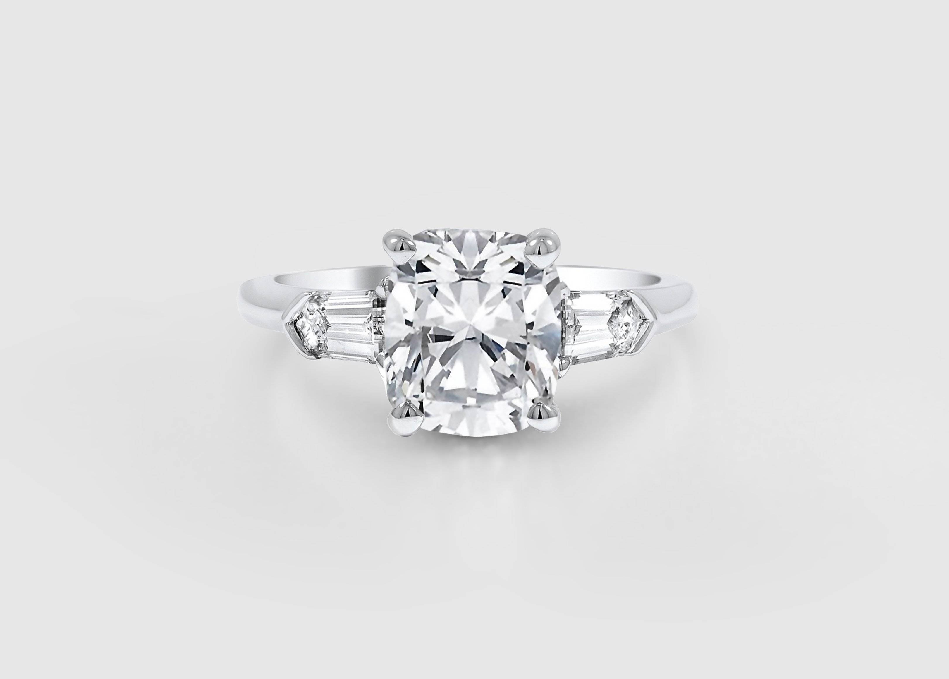 Engagement Ring Trends Of The Past, Present, And Future With Engagement Rings Without Stones (View 5 of 15)