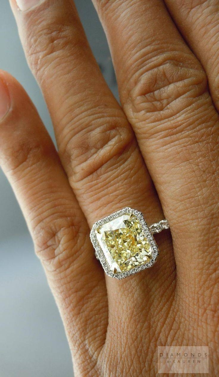 Engagement Rings : 2 Beautiful Engagement Ring Yellow Diamond For Victoria Beckham Wedding Rings (View 3 of 14)