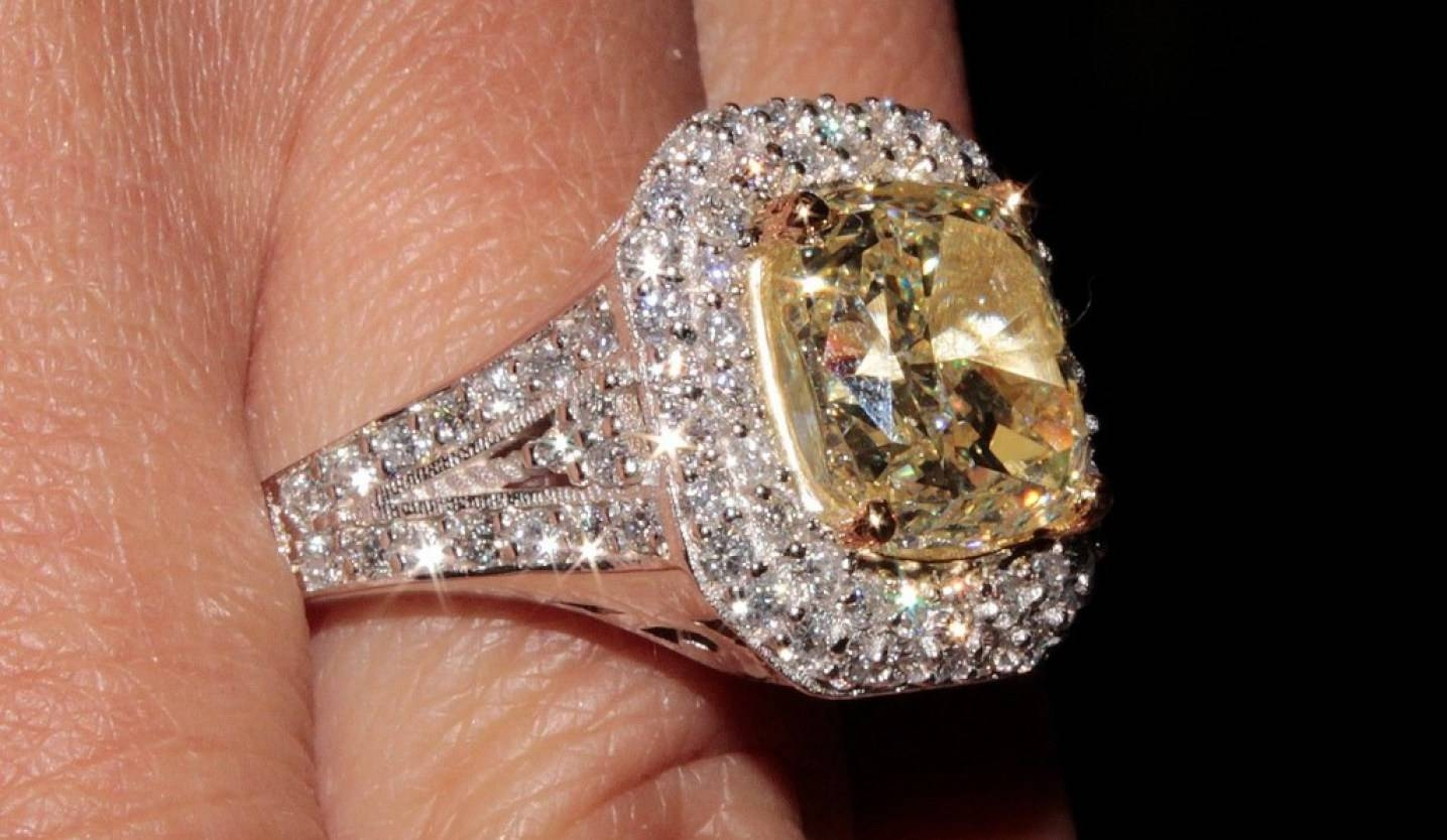 Engagement Rings : 2 Beautiful Engagement Ring Yellow Diamond With Regard To Victoria Beckham Wedding Rings (View 5 of 14)