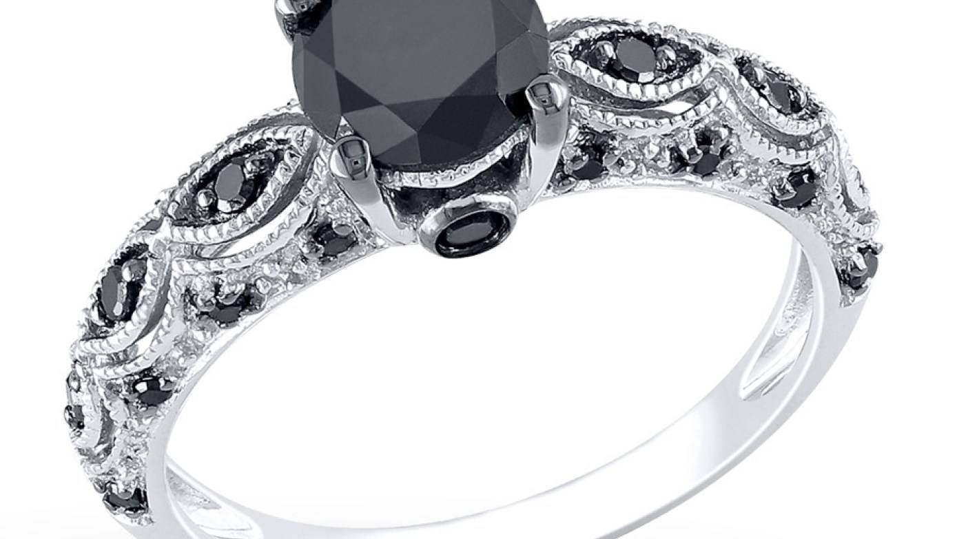 Engagement Rings : Amazing Engagement Rings Black Diamond Black Intended For Diamond Engagement Rings Under  (View 6 of 15)