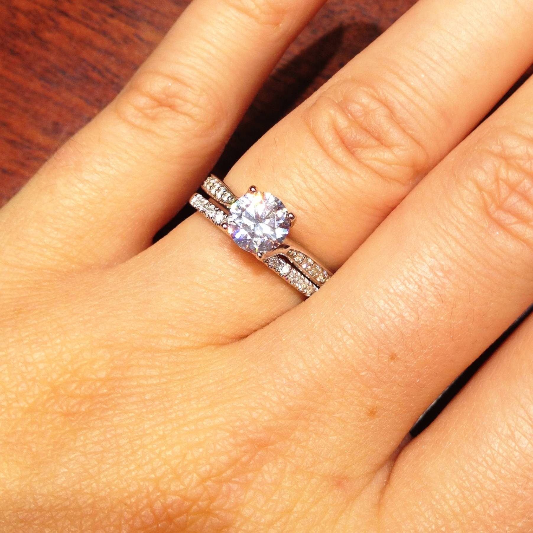 Engagement Rings : Amazing Solitaire Engagement Rings With Diamond Within Skinny Diamond Wedding Bands (View 5 of 15)