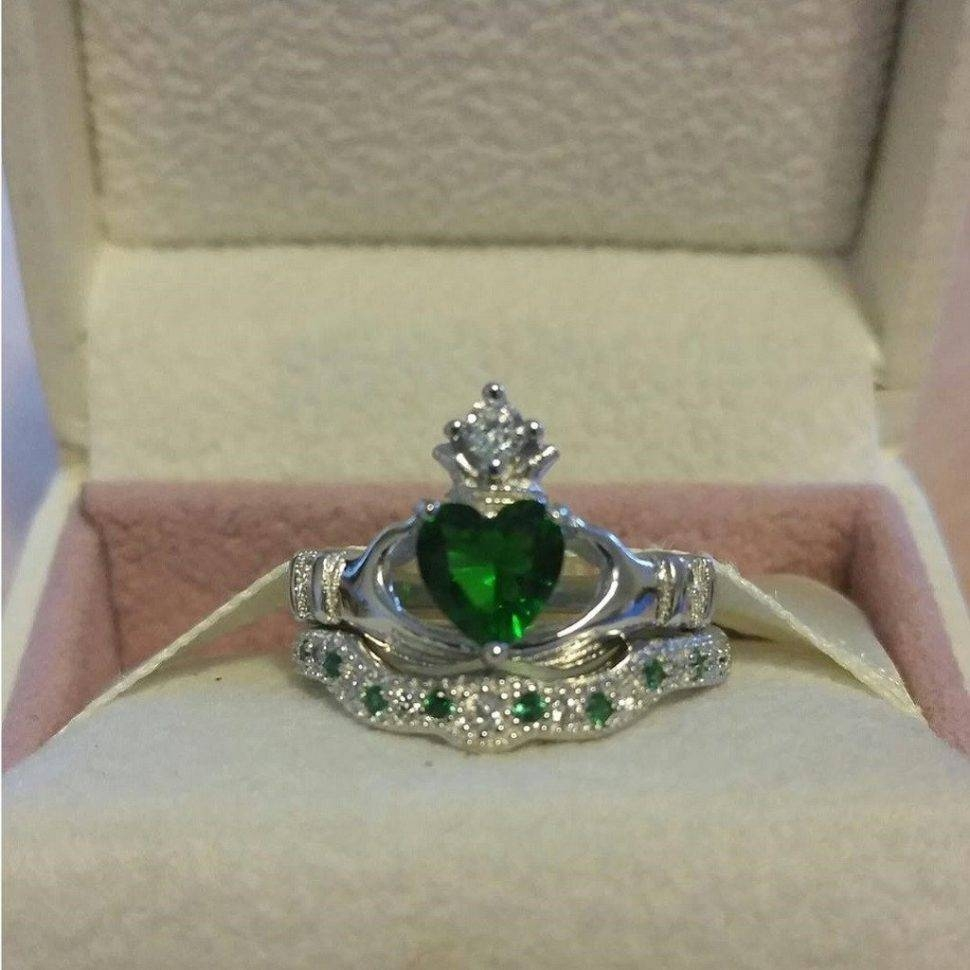 Engagement Rings : Awesome Claddagh Engagement Rings Sets Heart With Claddagh Rings Engagement Sets (View 7 of 15)