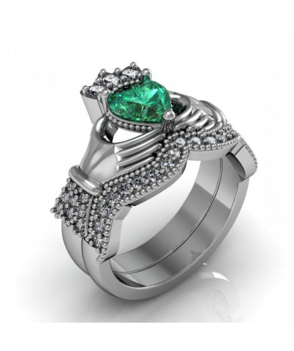 Engagement Rings : Awesome Claddagh Engagement Rings Sets With Regard To Irish Engagement Rings Claddagh (Gallery 14 of 15)