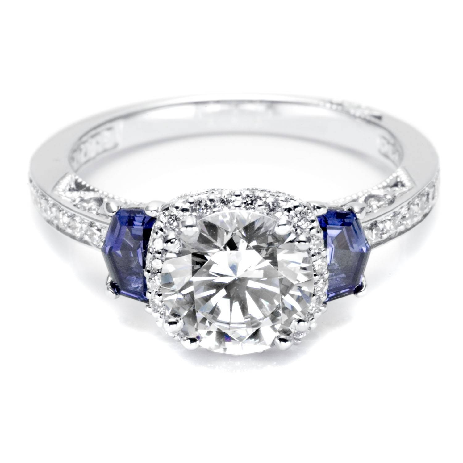 Engagement Rings : Awesome Diamond Engagement Rings With Sapphires With Regard To Wedding Rings With Diamonds And Sapphires (View 4 of 15)
