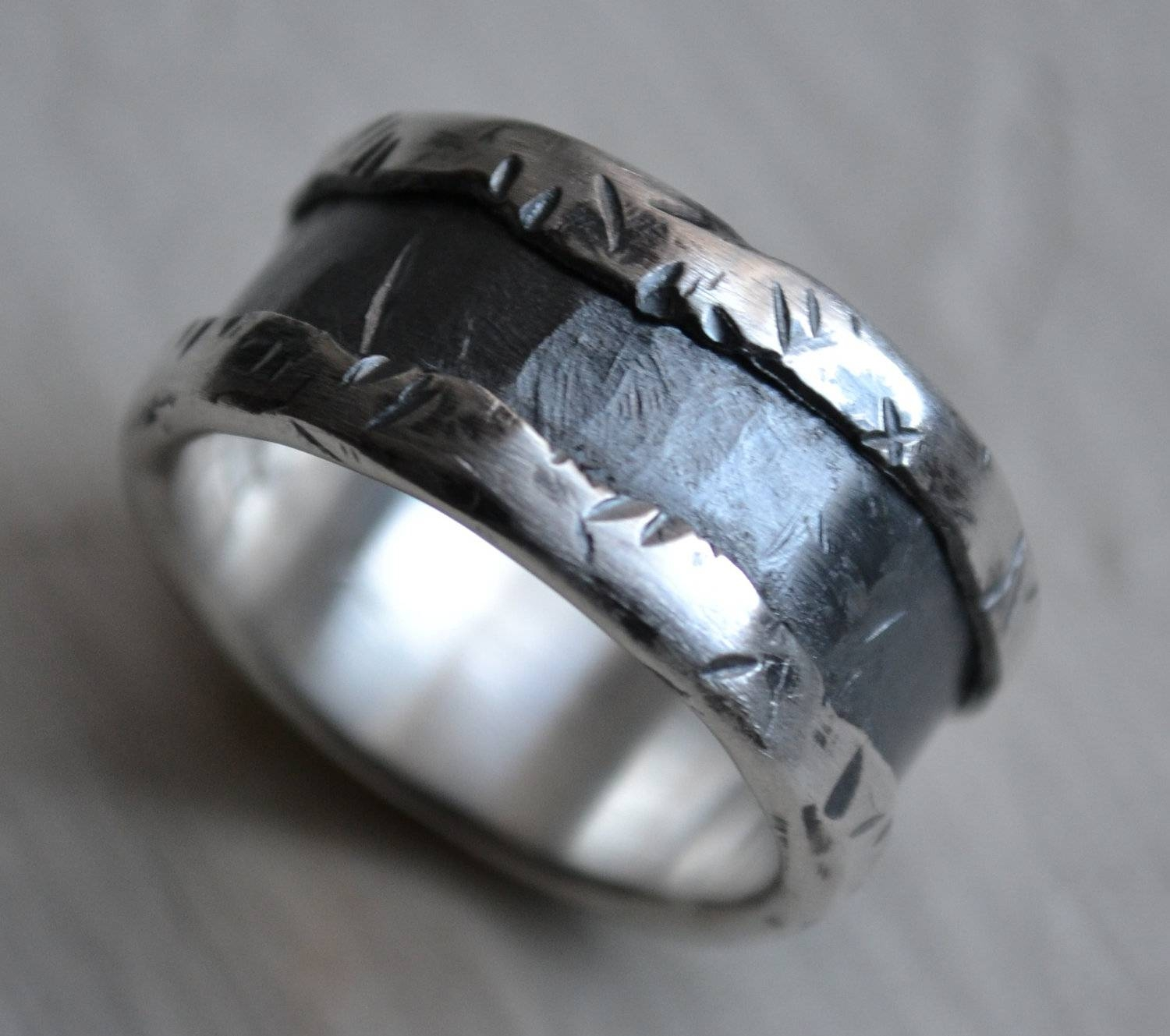Engagement Rings : Awesome Engagement Rings With Bands 20 Unique Regarding Unconventional Wedding Bands (View 4 of 15)