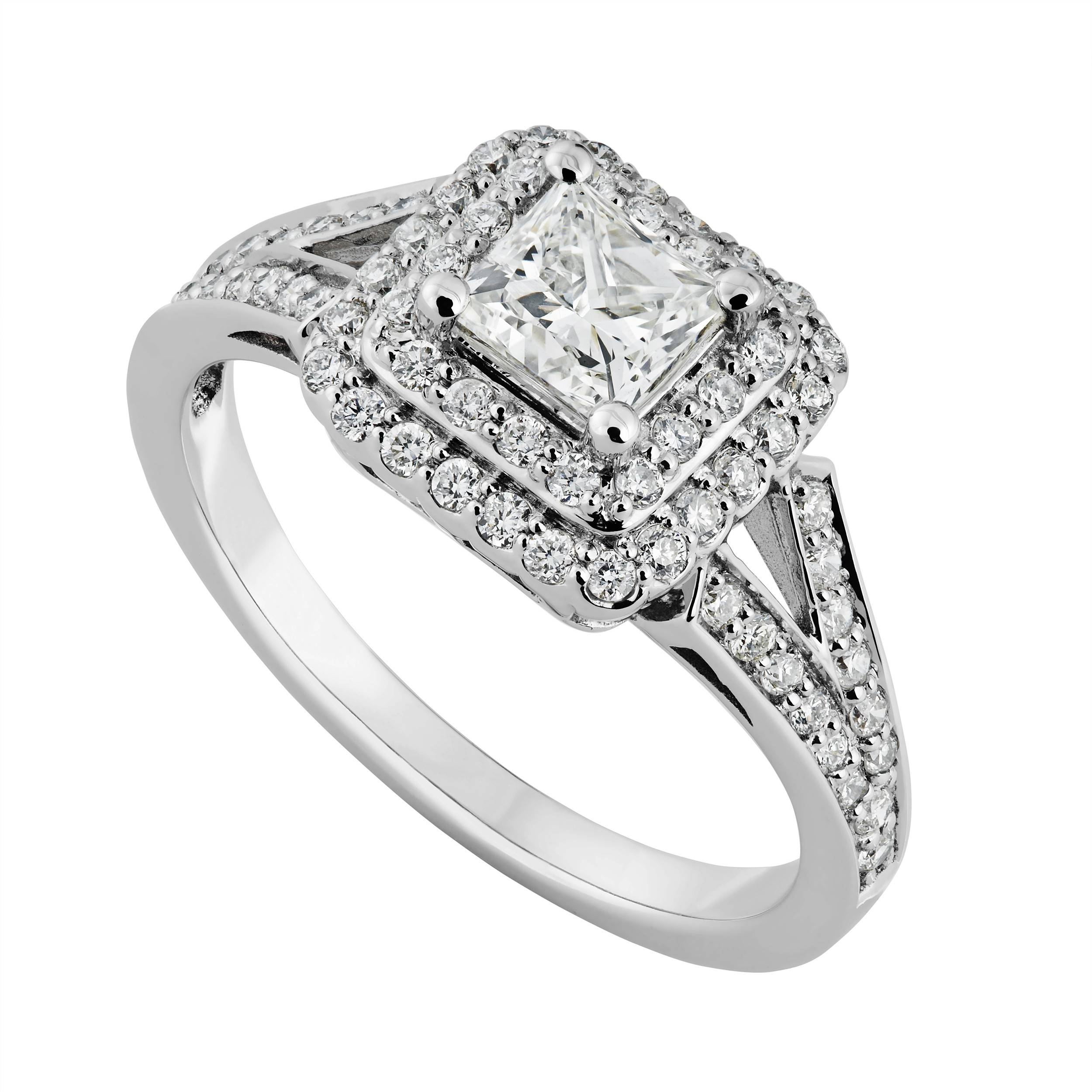 Engagement Rings : Awesome Princess Cut Engagement Rings Cheap Intended For White Gold Diamond Cut Wedding Rings (Gallery 10 of 15)