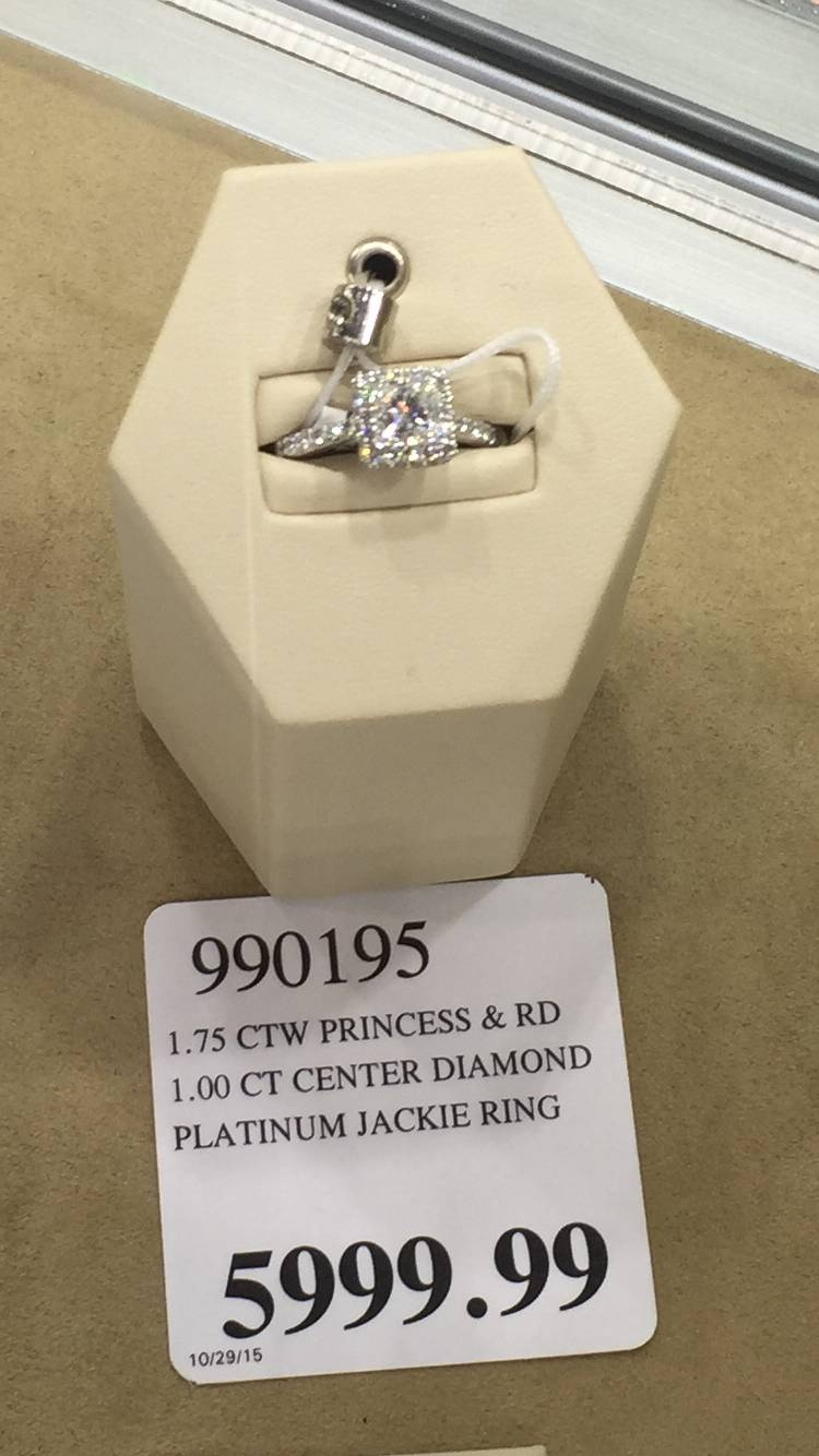 Engagement Rings : Beautiful Engagement Ring Costco Emerald Cut With Costco Diamond Wedding Rings (View 2 of 15)