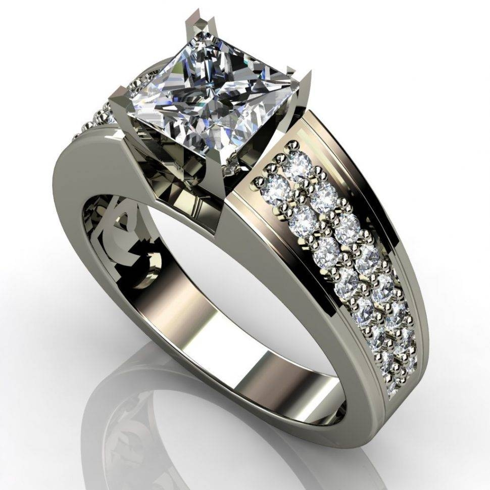Engagement Rings : Beautiful Princess Cut Halo Diamond Engagement Regarding Princess Cut Wedding Rings For Women (View 15 of 15)