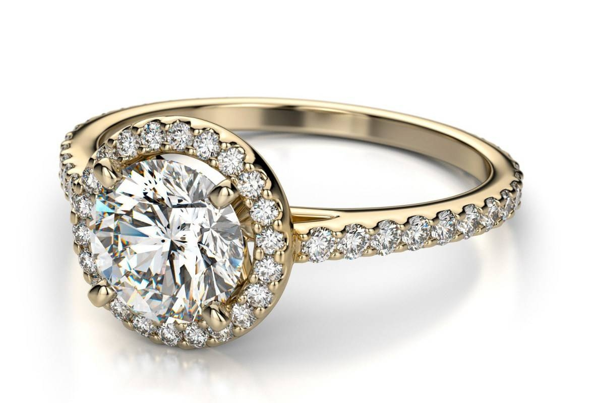 Engagement Rings : Beloved White Gold Diamond Engagement Rings Inside Engagement Rings For Women Under (View 15 of 15)